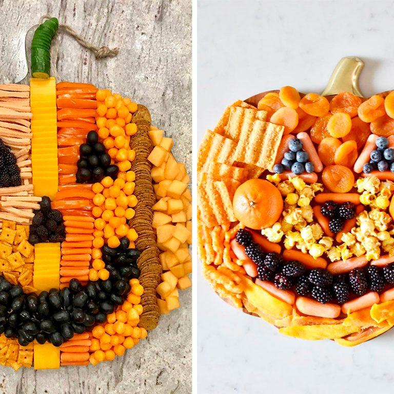 Pumpkin halloween snack boards