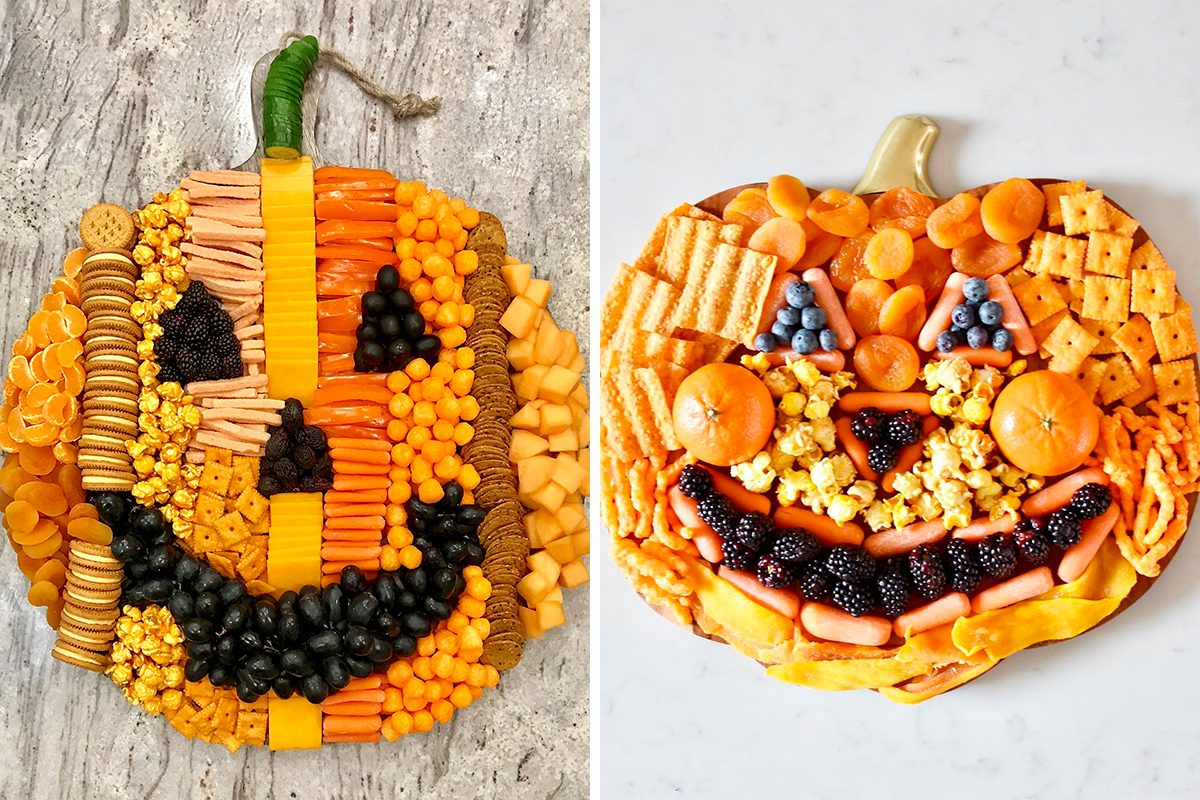 Taste Of Home Halloween 2020 How to Make a Pumpkin Shaped Snack Board for Fall | Taste of Home