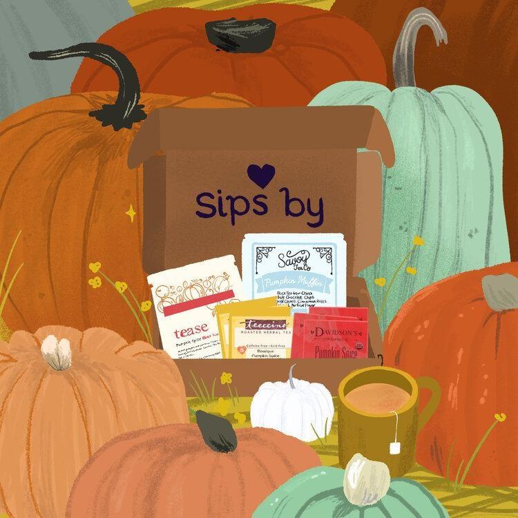 pumpkin tea sipsby