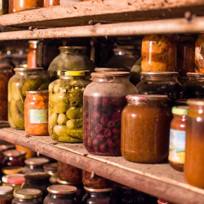 Grandma food jar background