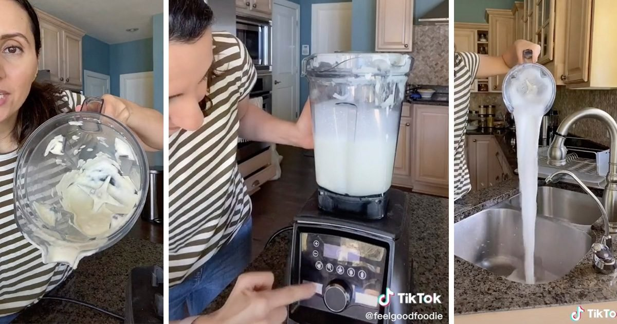 This Viral Video Shows You How to Clean a Blender in 30 Seconds