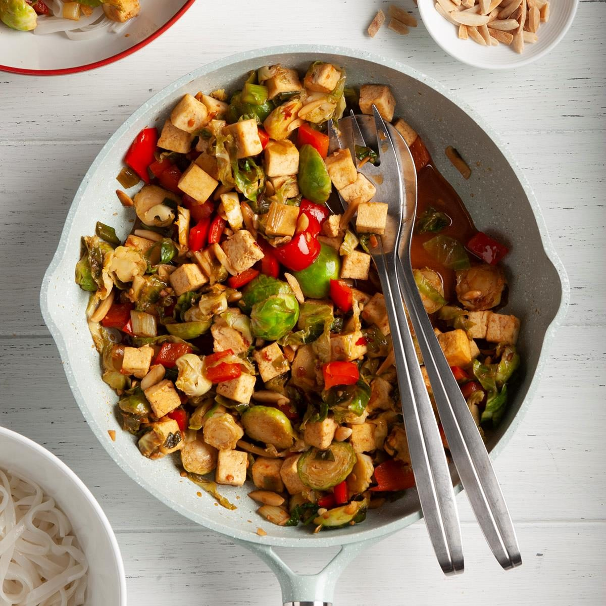 Runner-Up: Tofu Stir-Fry with Brussels Sprouts