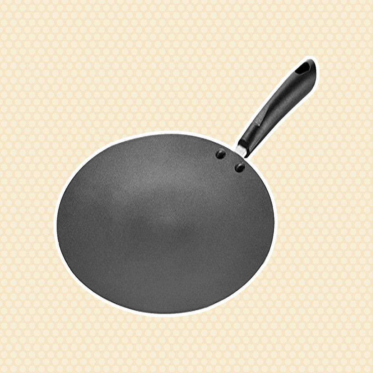 Eris Concave Griddle Tava, 10.25-Inch, Black