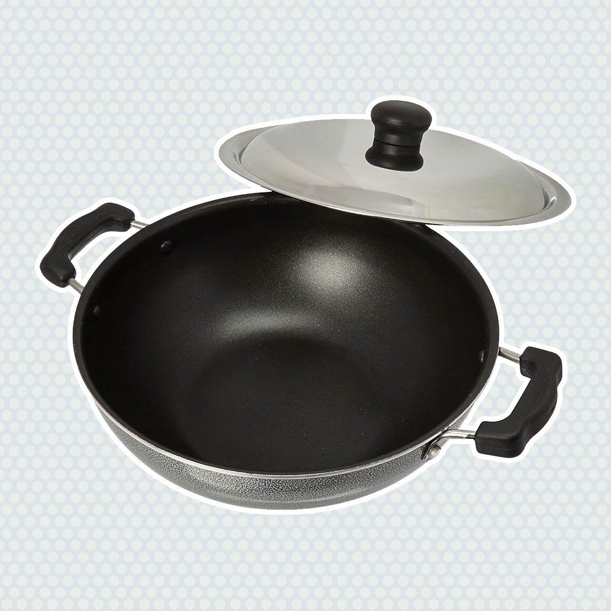 Prestige Manttra Omega Select Plus 200 Deep fry pan, Kadai, Indian kadhai, Medium, Black