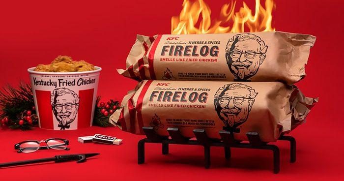 KFC® Limited-Edition 11 Herbs & Spices Firelog by Enviro-Log® crop