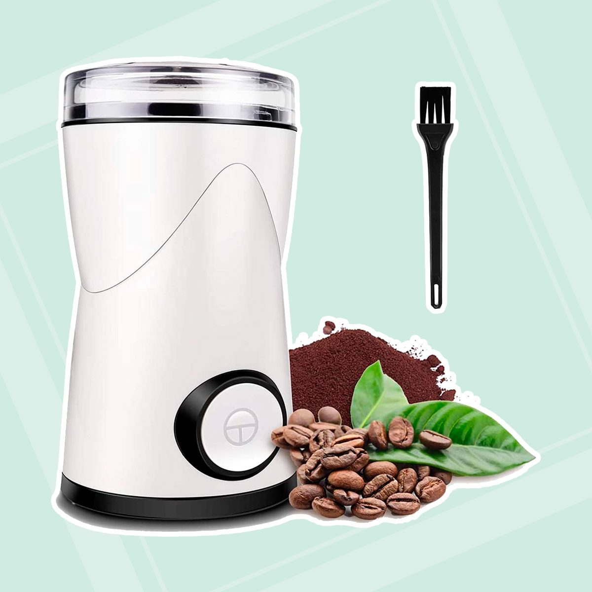 Coffee Grinder, Keenstone Electric Coffee Bean Grinder Mill Grinder with Noiseless Motor One Touch Design Home and Office Portable Use, Also for Spices,...