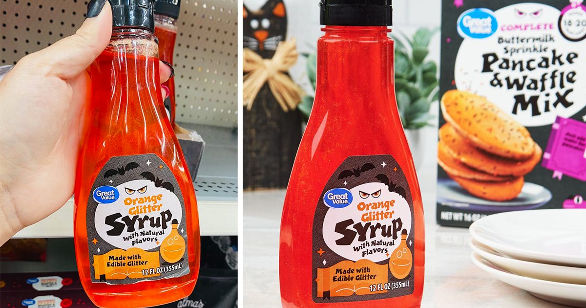 Walmart Is Selling SPARKLY Halloween Syrup Right Now—and It's Only $3