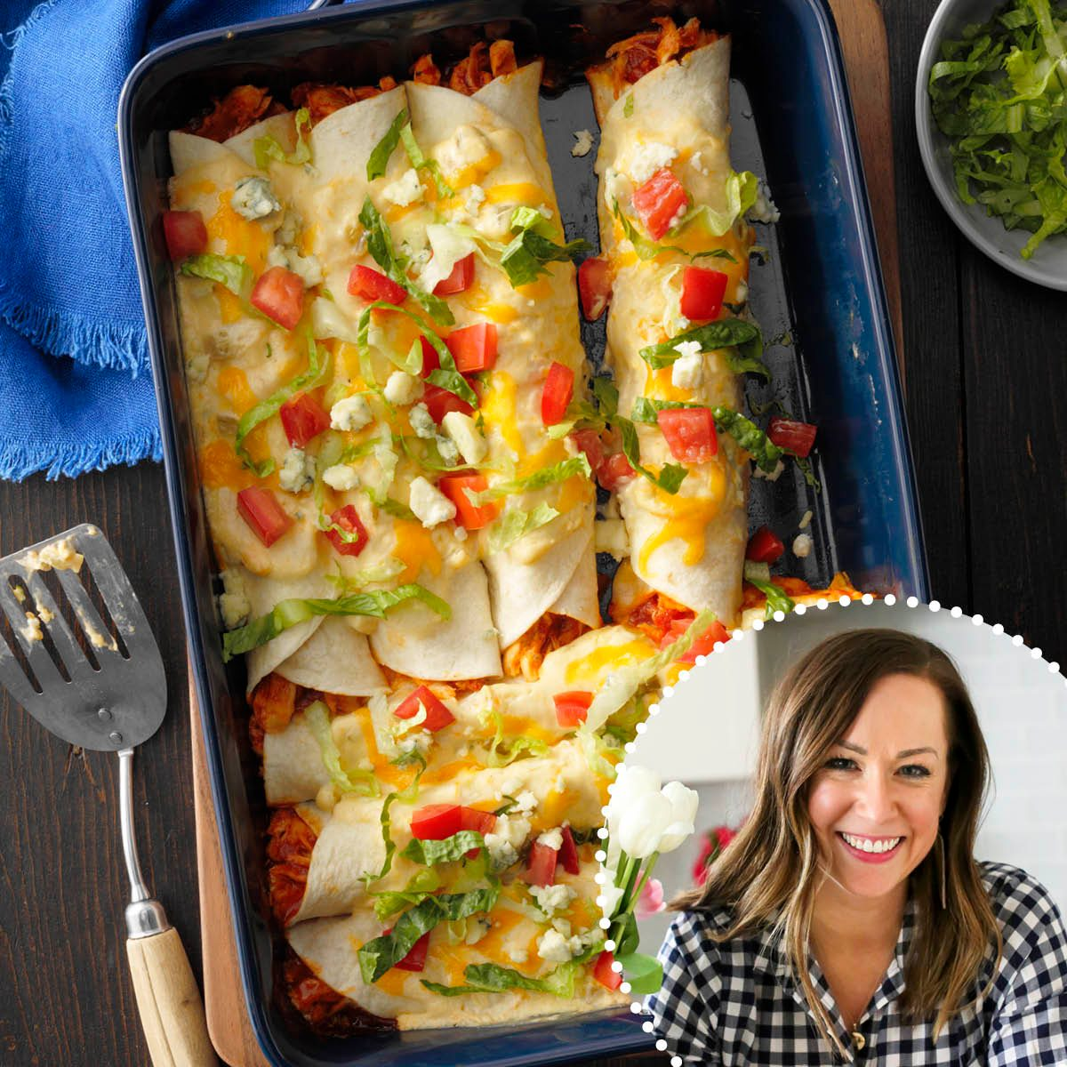 ROTY Becky-Hardin Buffalo Chicken Enchiladas