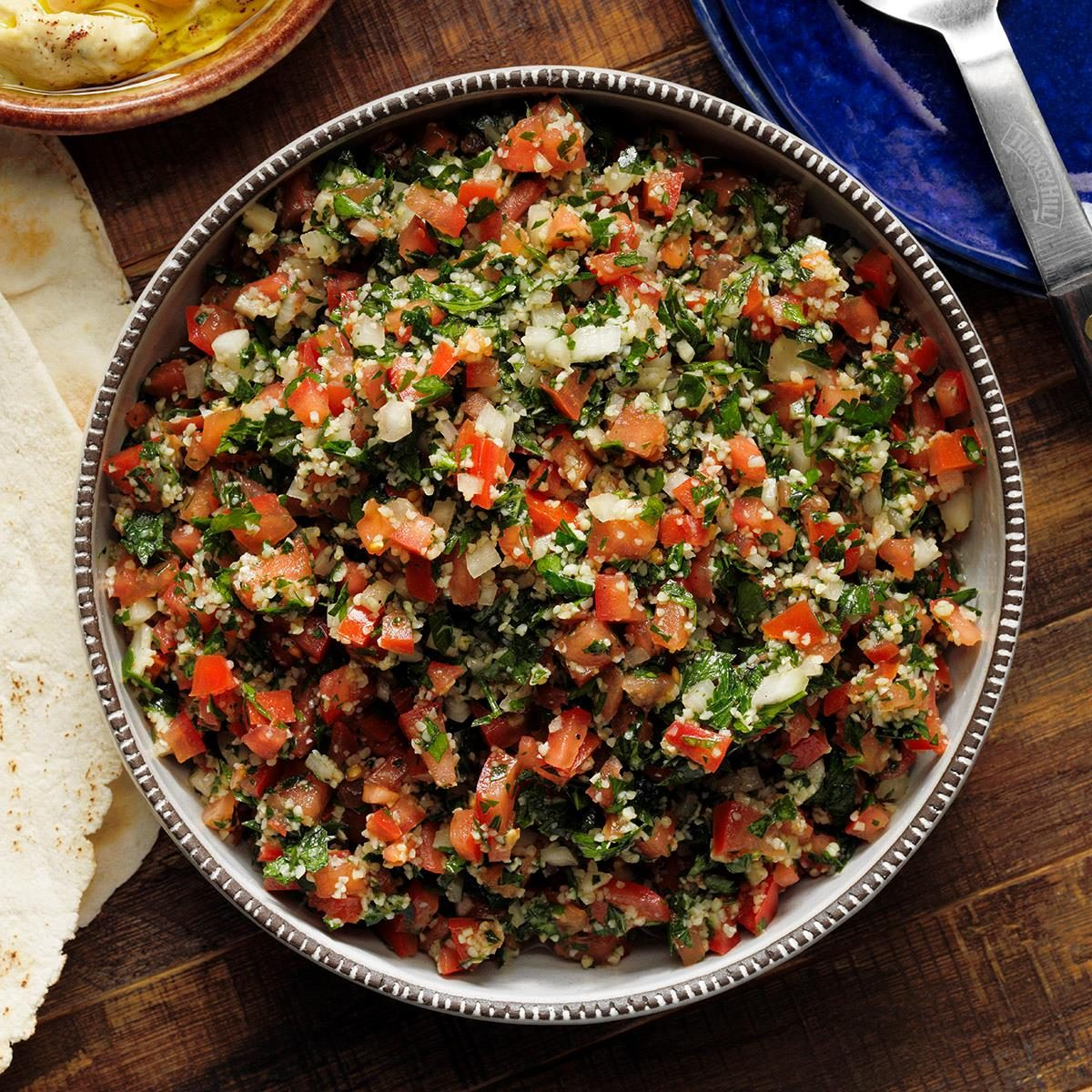 A bowl of tabouleh from Layla's Lebanese restaurant.