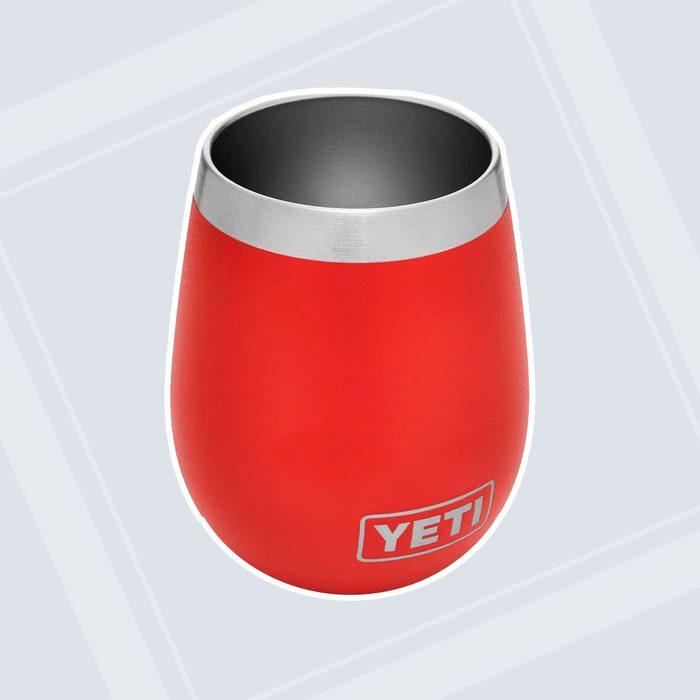 YETI Rambler 10 oz Wine Tumbler, Vacuum Insulated, Stainless Steel, Canyon Red