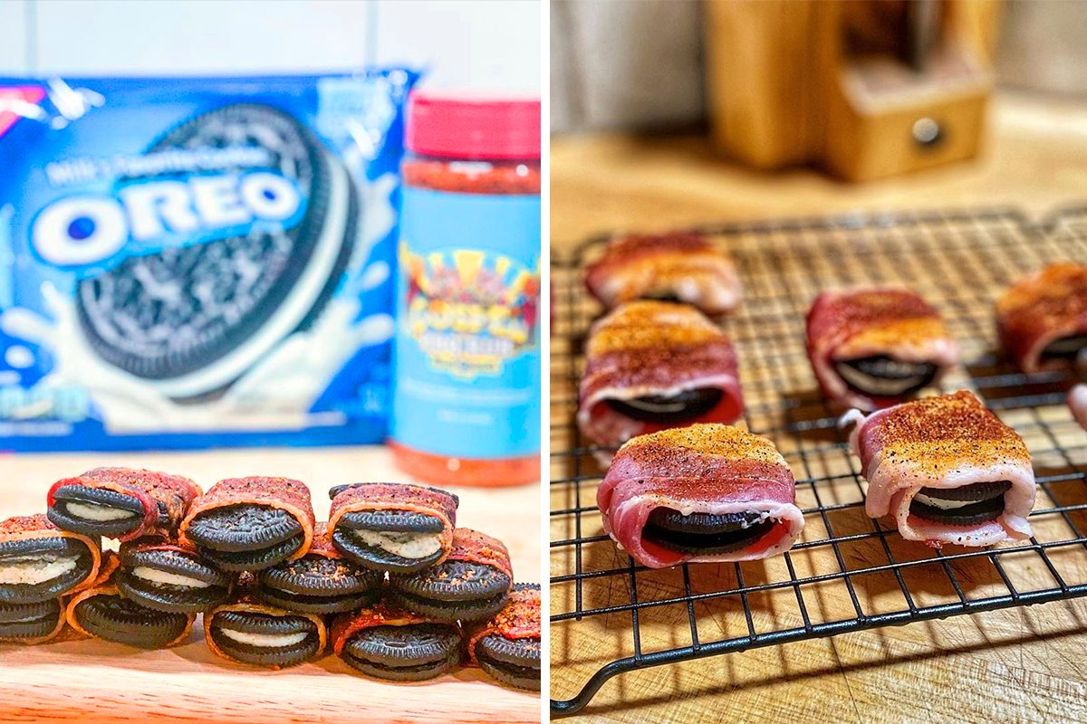 bacon wrapped oreos