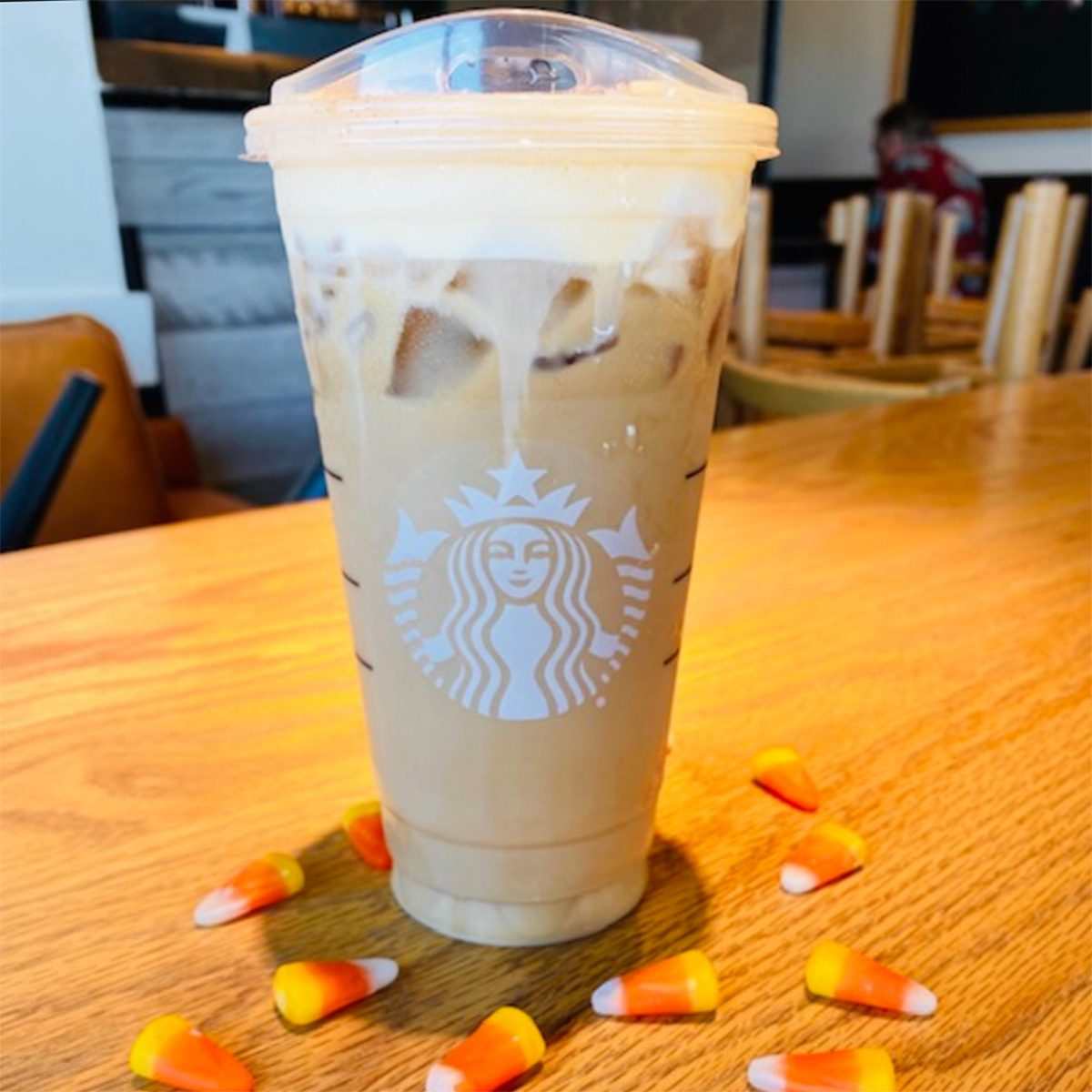 CANDY CORN COLD BREW FROM STARBUCKS square crop