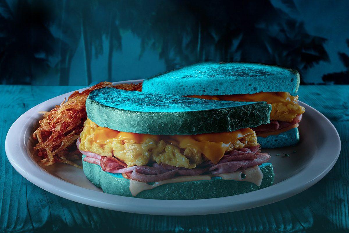 Denny's Blue Moons Over My Hammy sandwich
