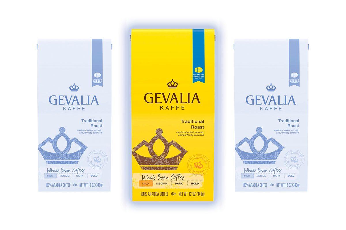 Gevalia Mild Roast Whole Bean Coffee (12 oz Bag)