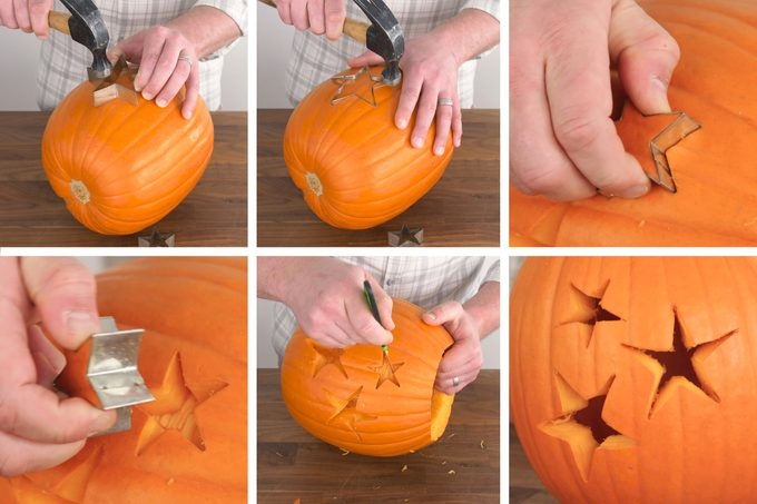 How To Carve A Pumpkin Cookie Cutter Method