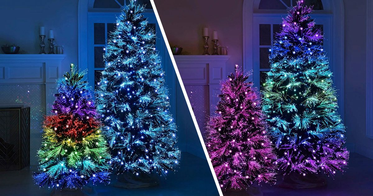 This GORGEOUS Christmas Tree Puts on a Light Show in Your Living Room—and It Comes in Two Sizes