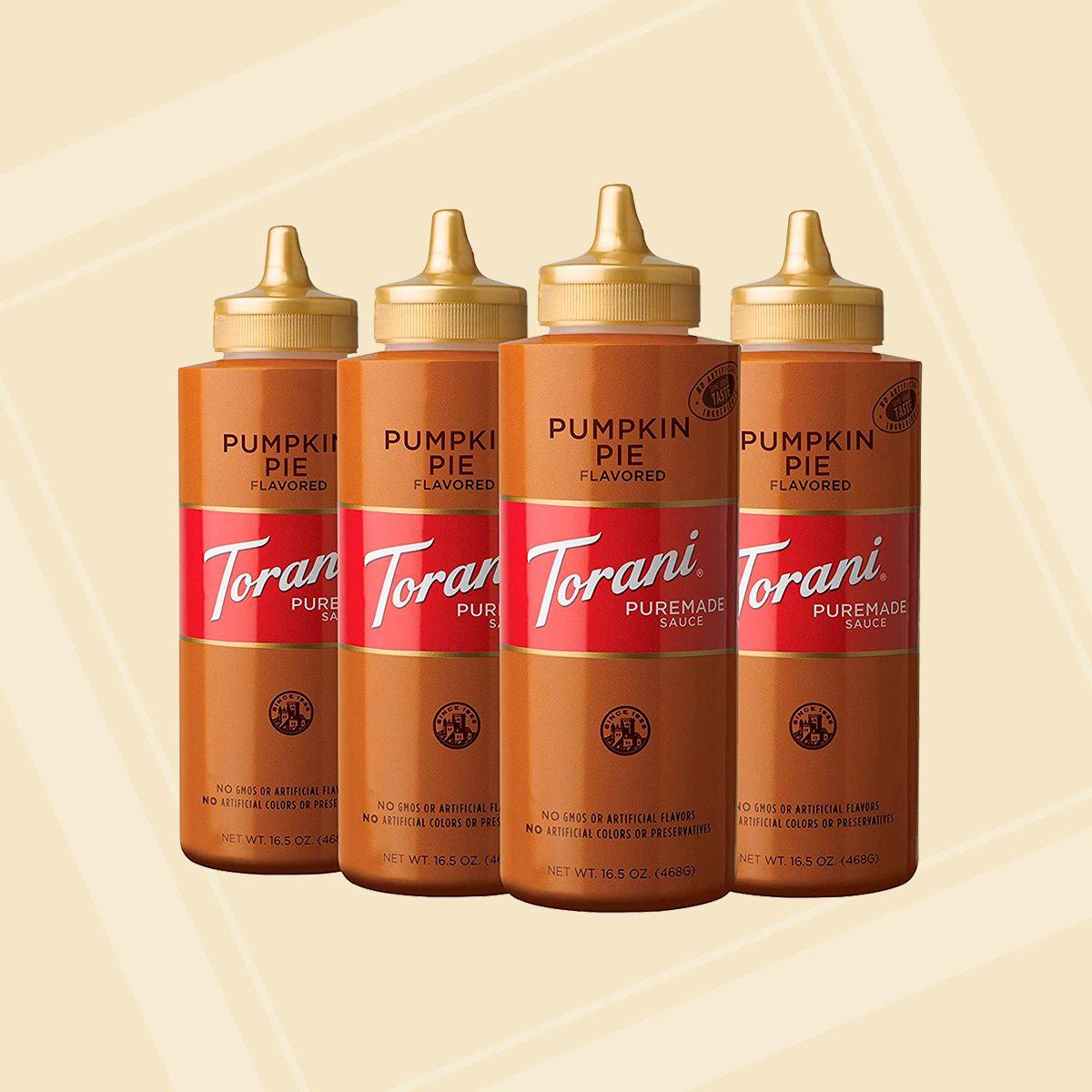 Torani Puremade Pumpkin Pie Sauce, 16.5 Ounce (Pack of 4) square crop