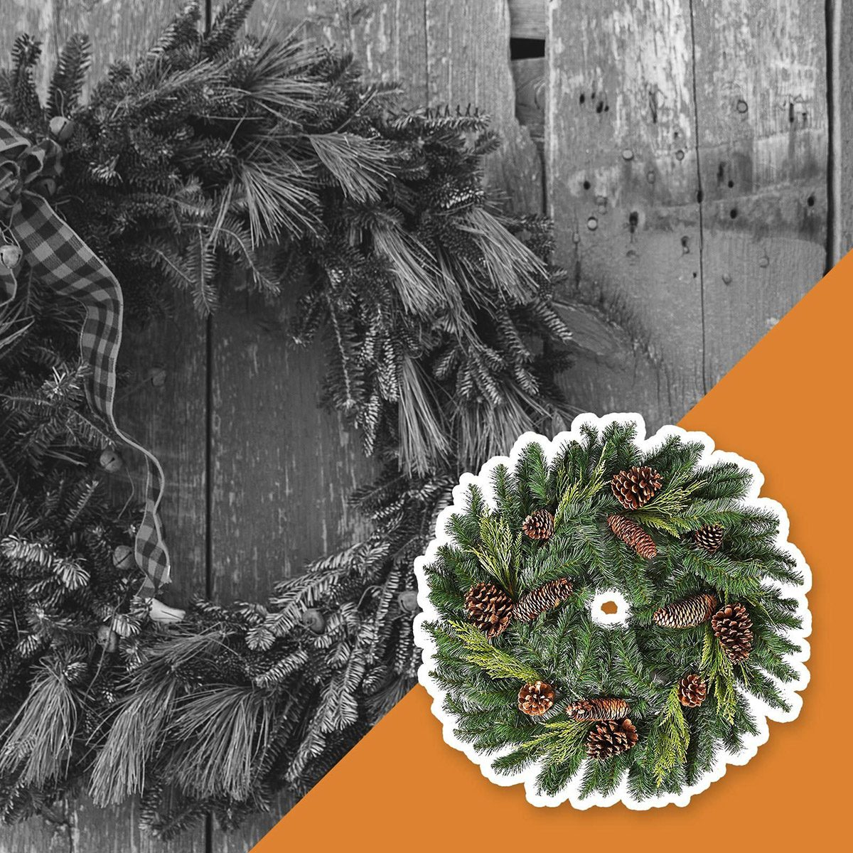 A crumbling fall wreath