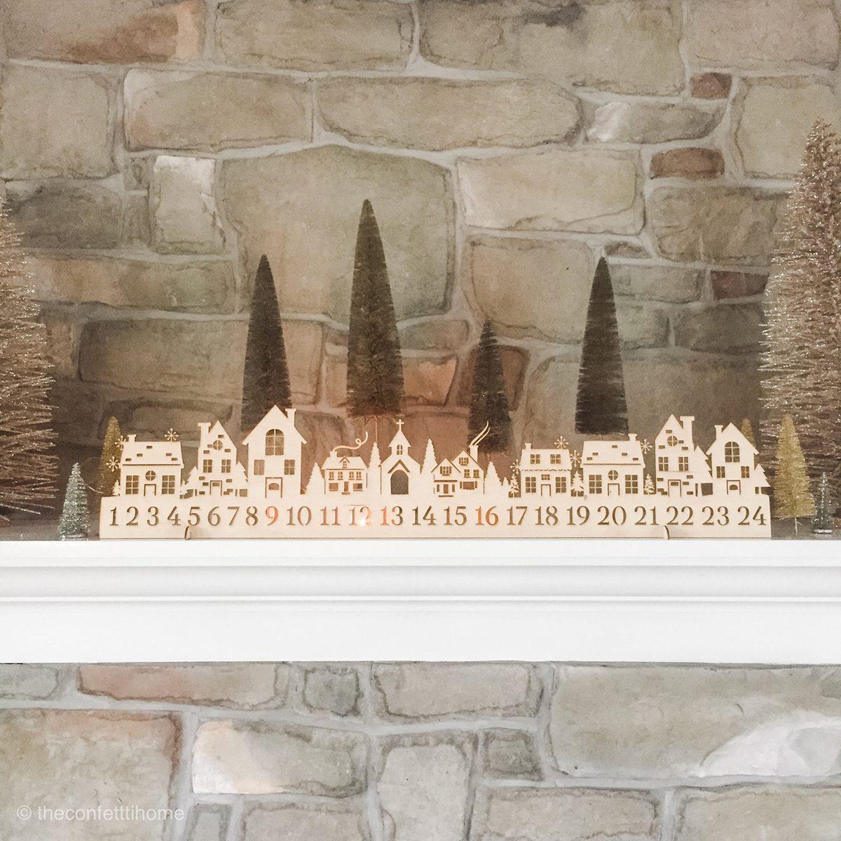 Candlelit Advent Calendar Scene
