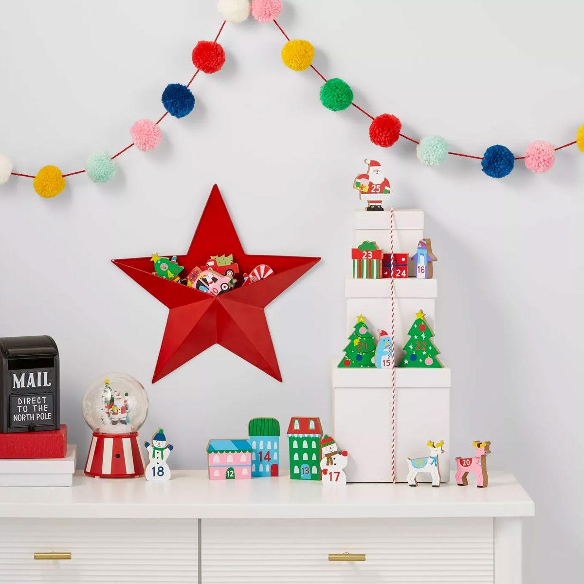 Children's Wooden Advent Calendar Scene
