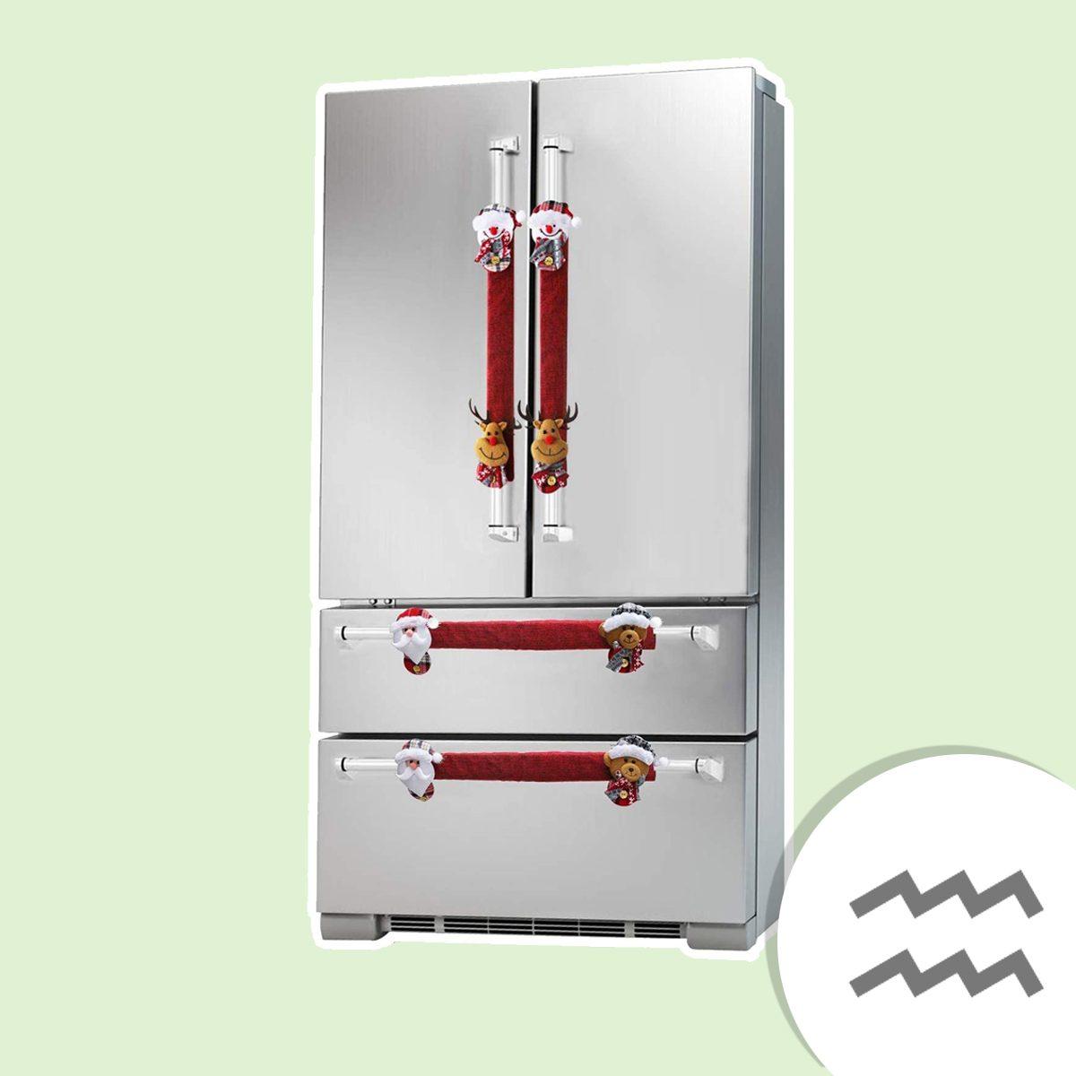 Christmas Refrigerator Door Handle Covers