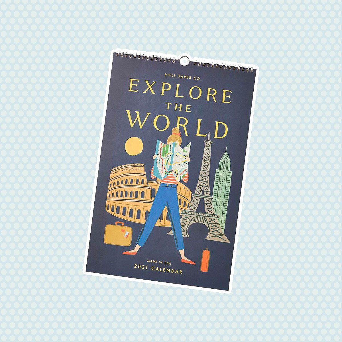 Rifle Paper Co. Explore The World 2021 Wall Calendar