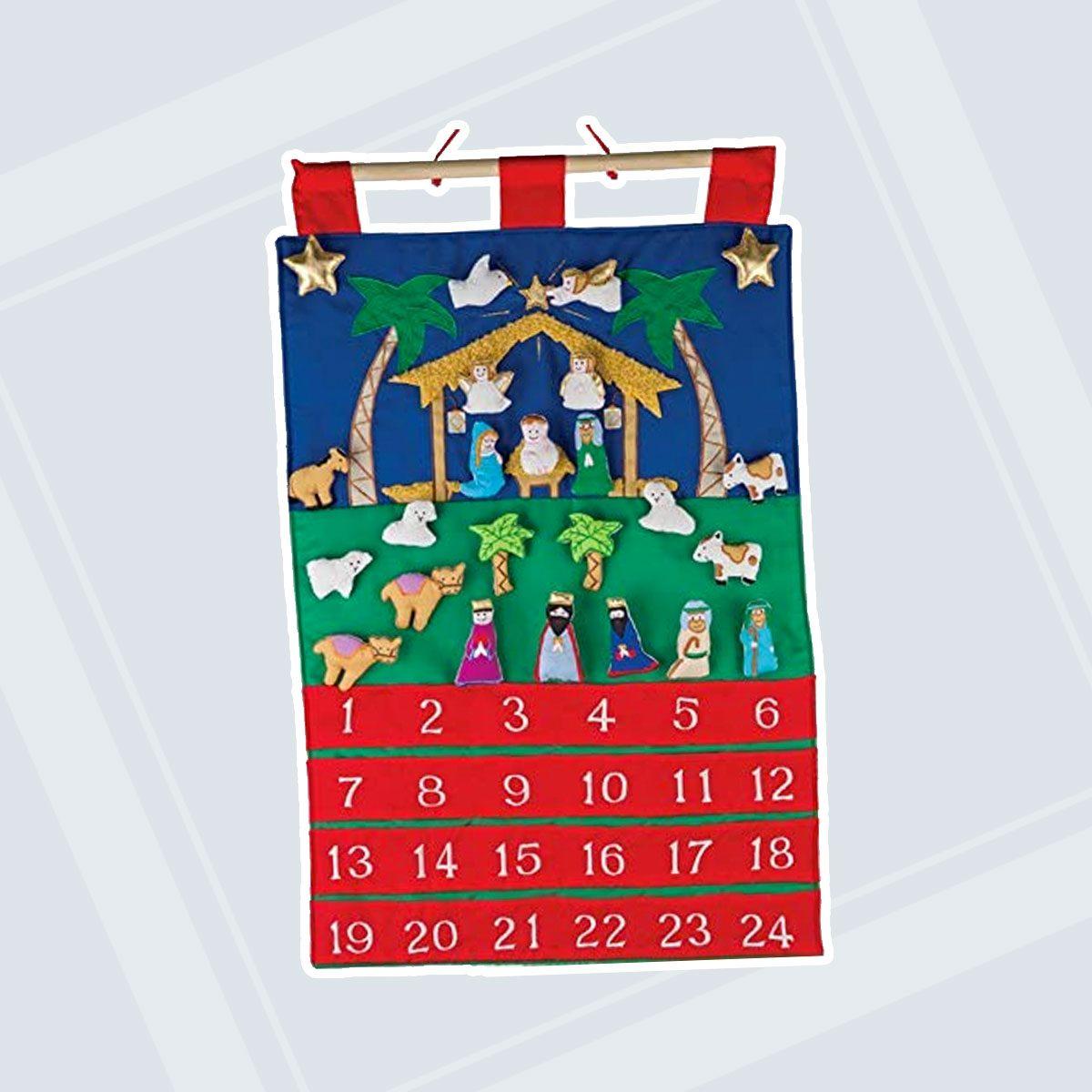Fabric Nativity Advent Calendar