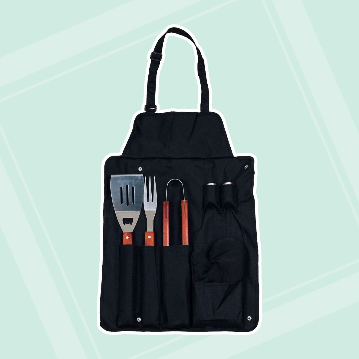 Grilling Apron and Utensil Set