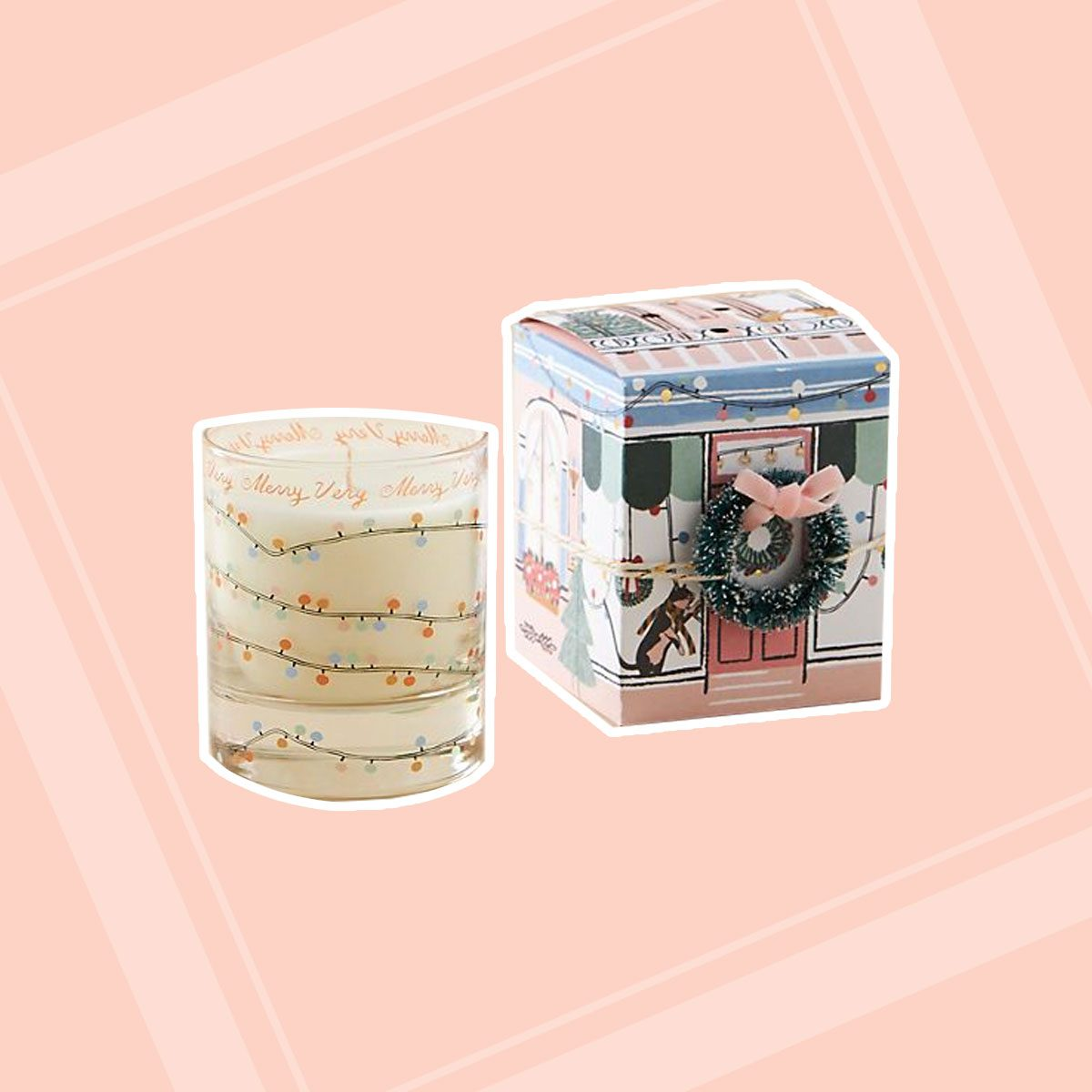 George & Viv Holiday Village Boxed Candle