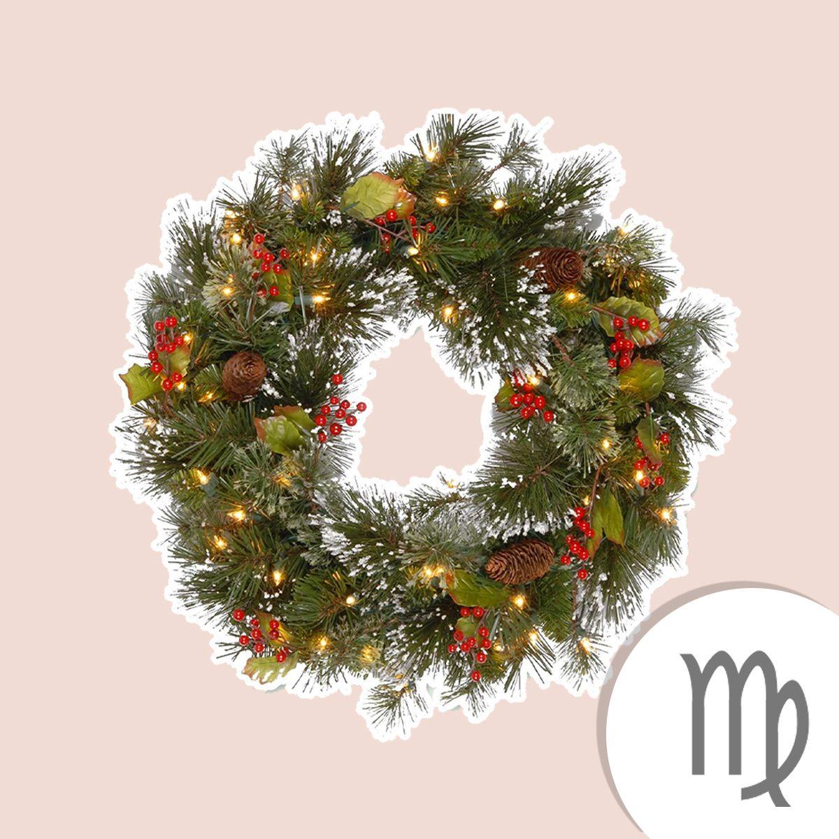National Tree Company Pre-lit Artificial Christmas Wreath