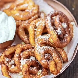 Potato Latke Funnel Cakes