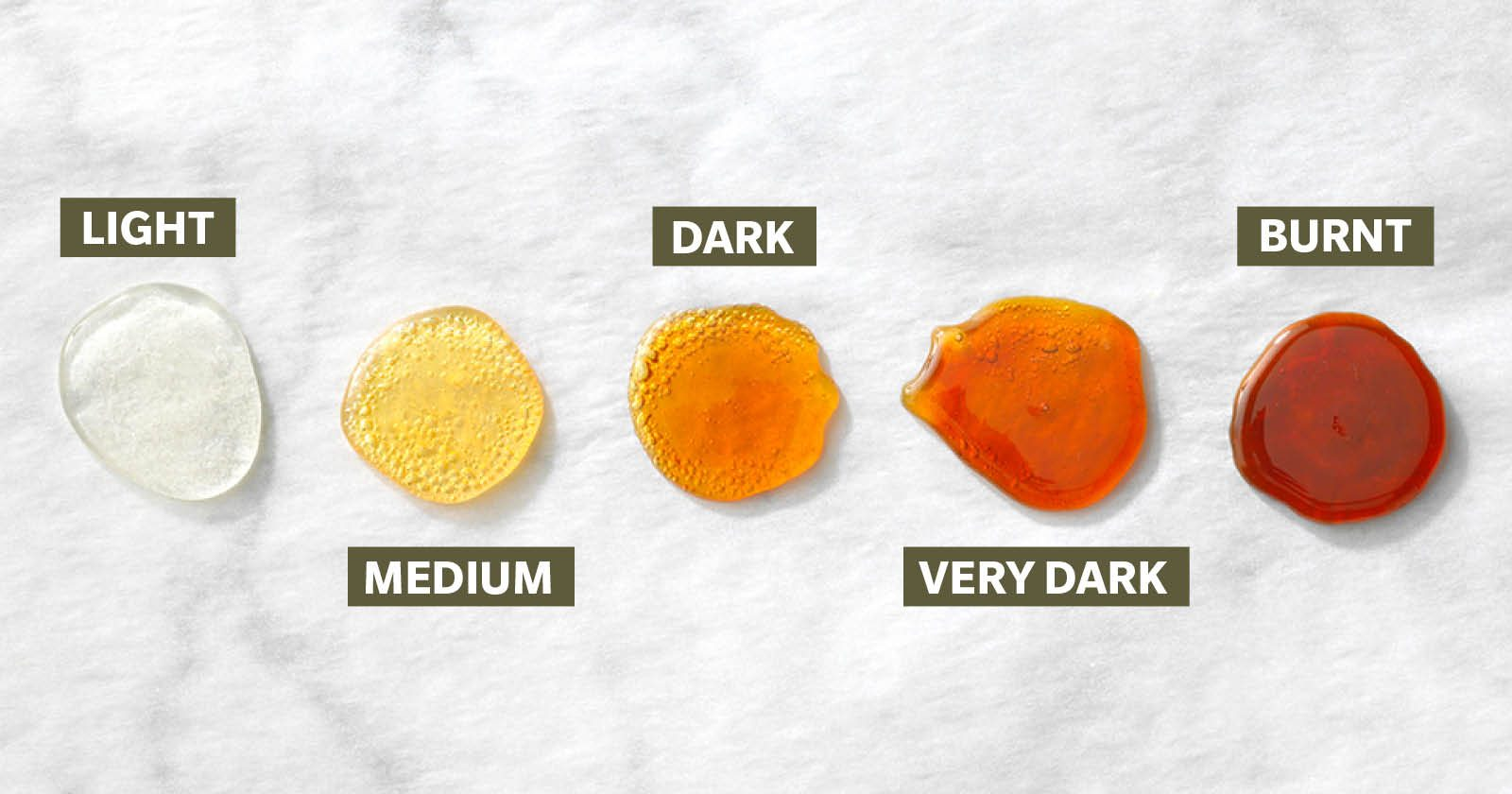 stages of making caramel