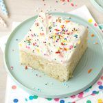 Sugar Cookie Cake with Sour Cream Frosting