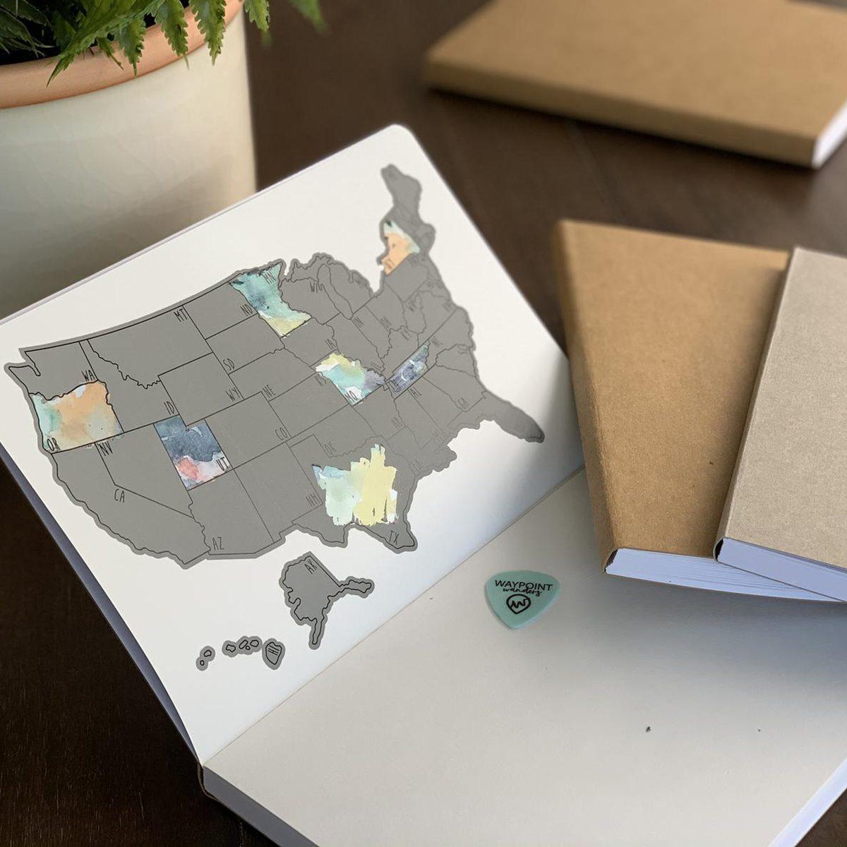 US Travel Scratch Journal