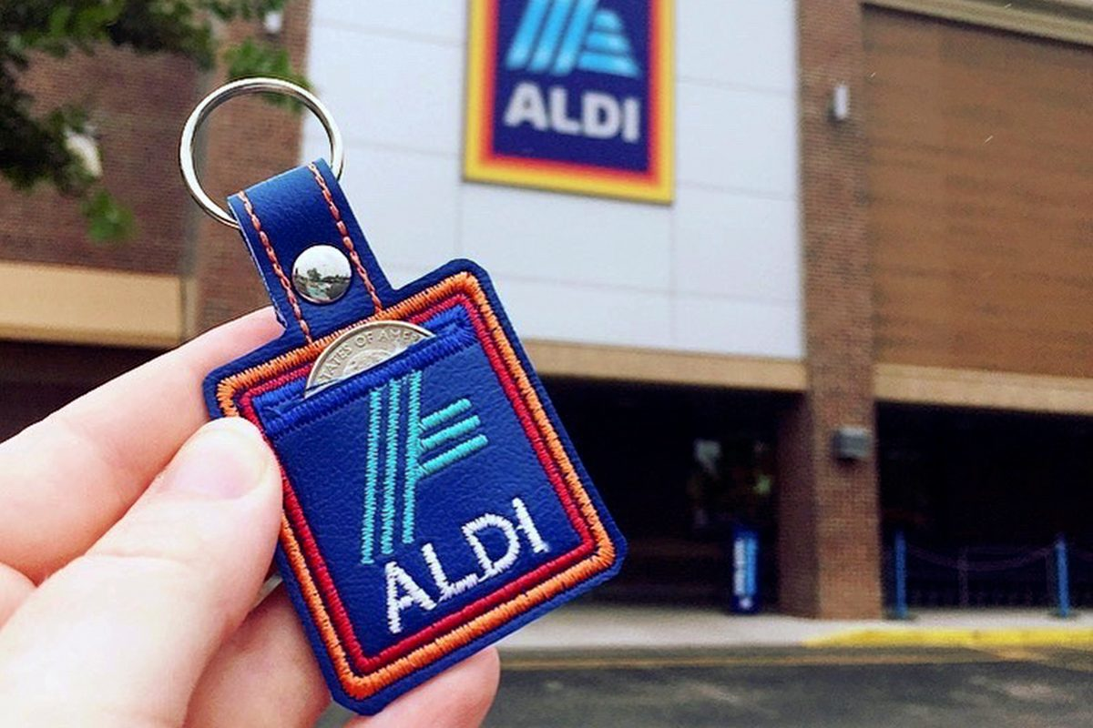 Aldi quarter holder