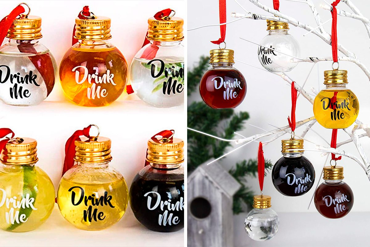 Gift Republic Festive Boozeballs, Medium, CLEAR