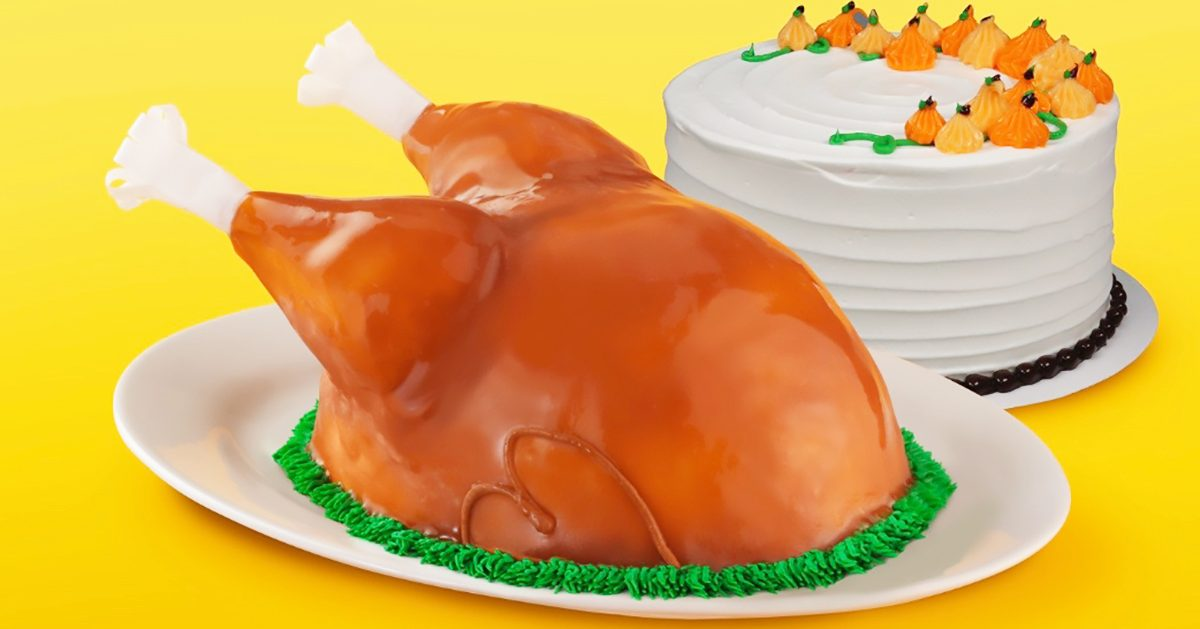 Baskin-Robbins Is Selling a Realistic TURKEY Ice Cream Cake, and We Need One for Thanksgiving