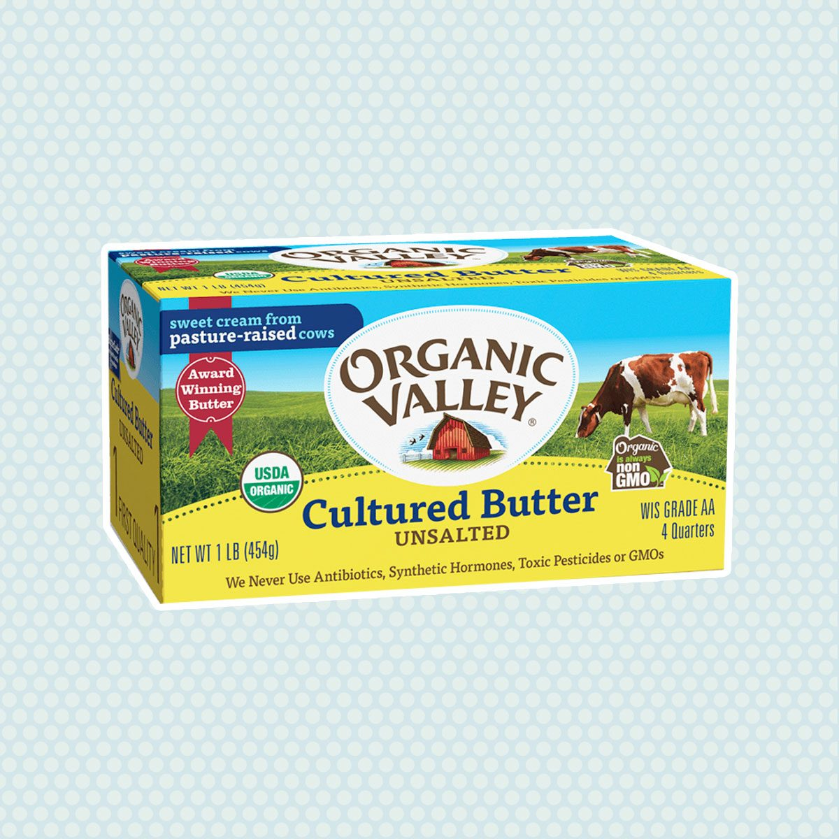 Cultured Unsalted Butter, 1 lb, 4 quarters
