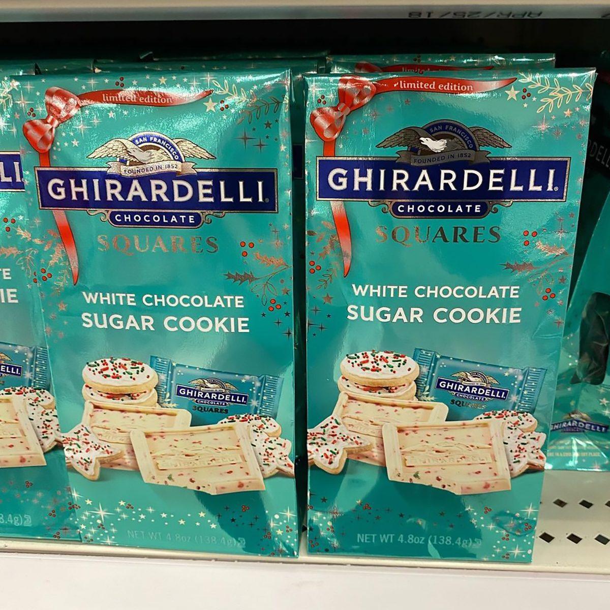 Ghirardelli white chocolate sugar cookie squares