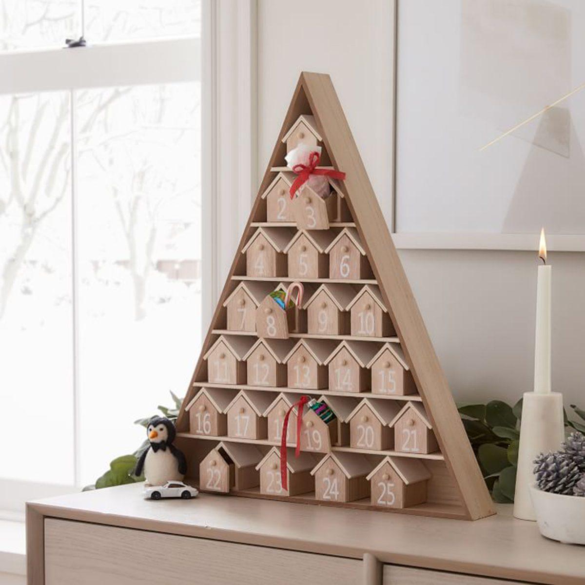 Modern Wooden Advent Calendar