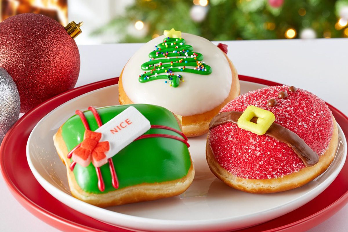 Krispy Kreme Just Revealed Its Lineup of Christmas Doughnuts for 2020