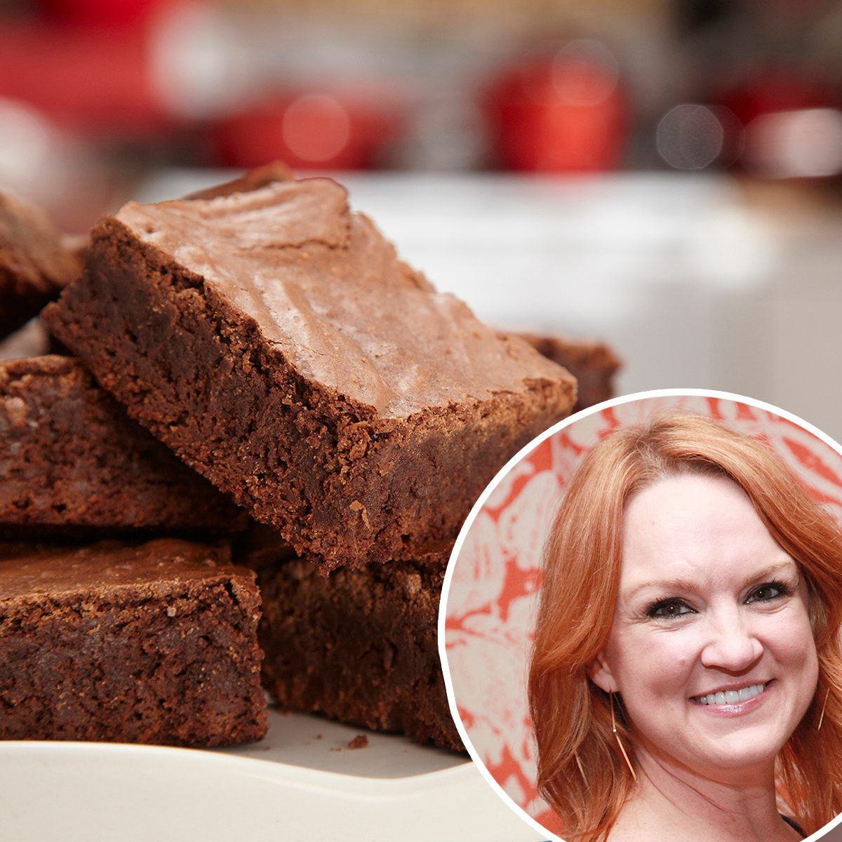 ree drummond A batch of chocolate brownies on a plate