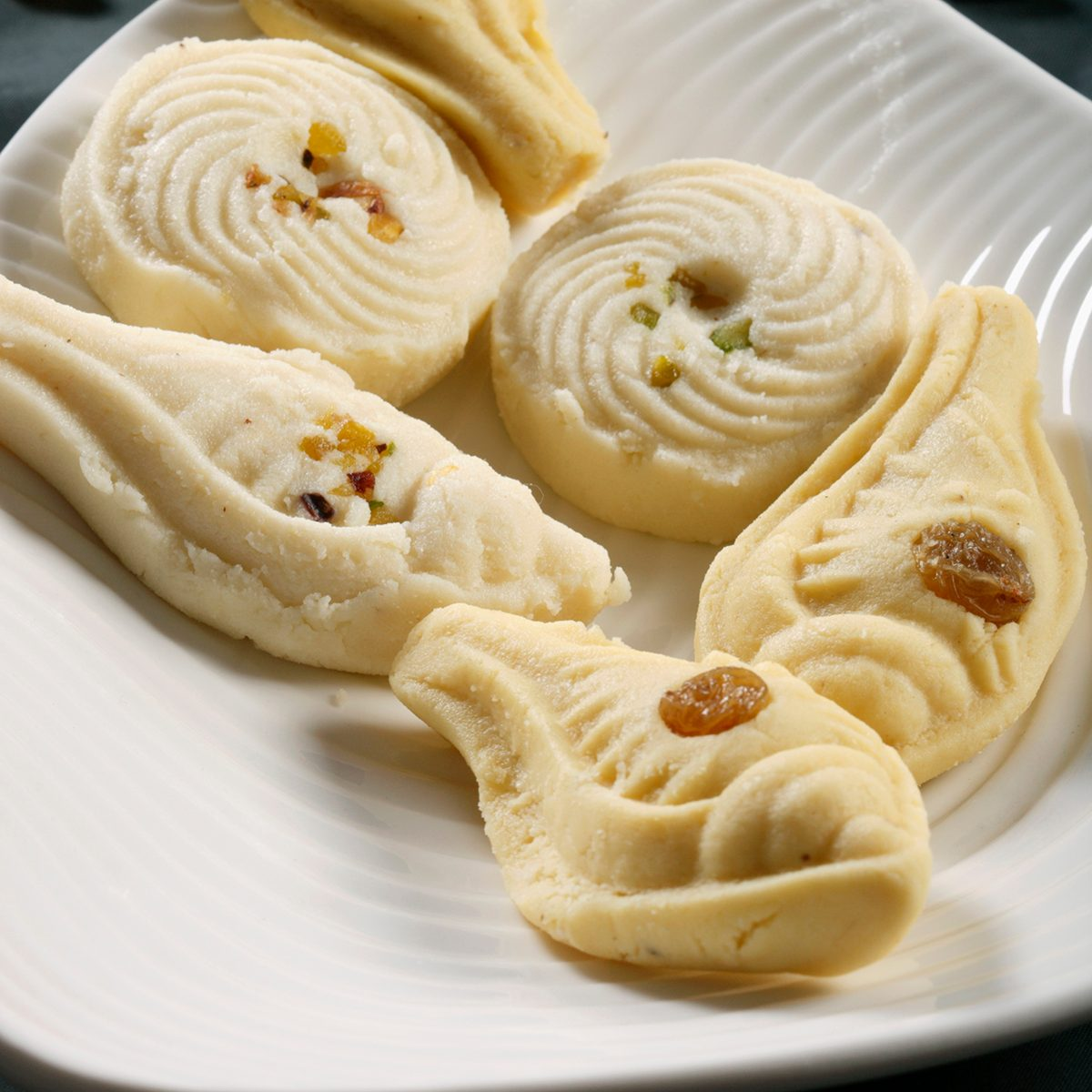 Sandesh is traditional bengali sweet dish prepared with cottage cheese.