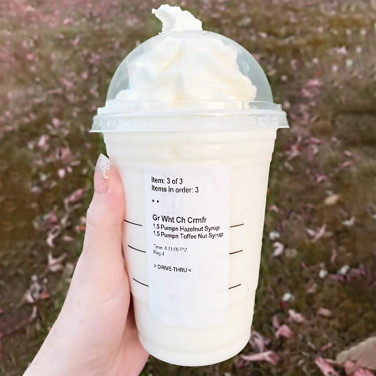 Snowball Frappuccino from Starbucks