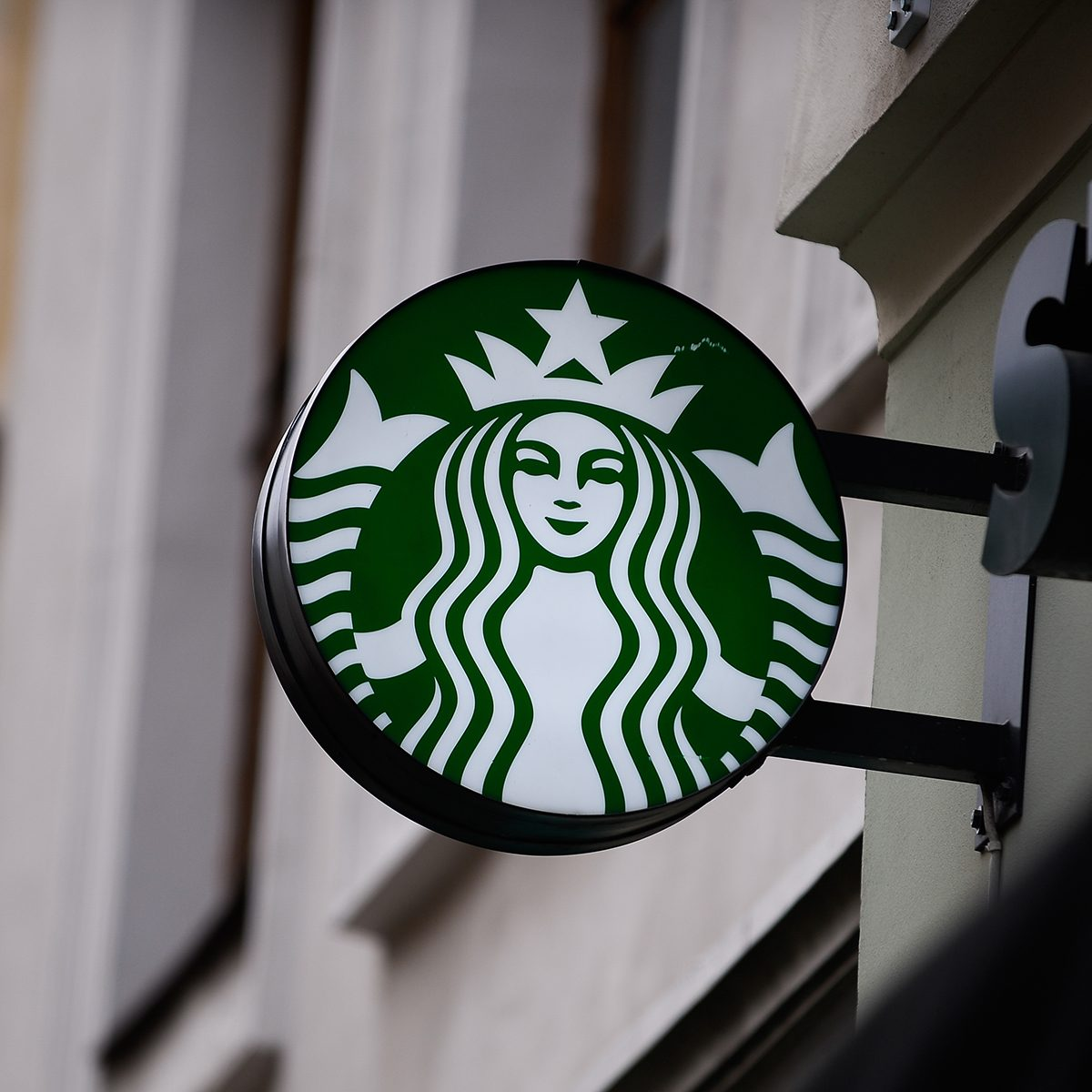 KRAKOW, POLAND - 2018/11/14: The Starbucks logo seen in Krakow. (Photo by Omar Marques/SOPA Images/LightRocket via Getty Images)