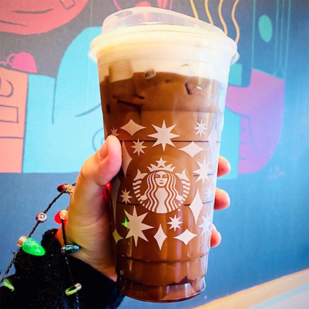 ANDES MINT COLD BREW AT STARBUCKS