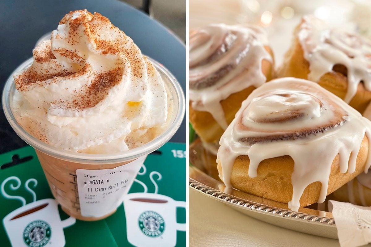 Starbucks secret menu cinnamon roll frappuccino