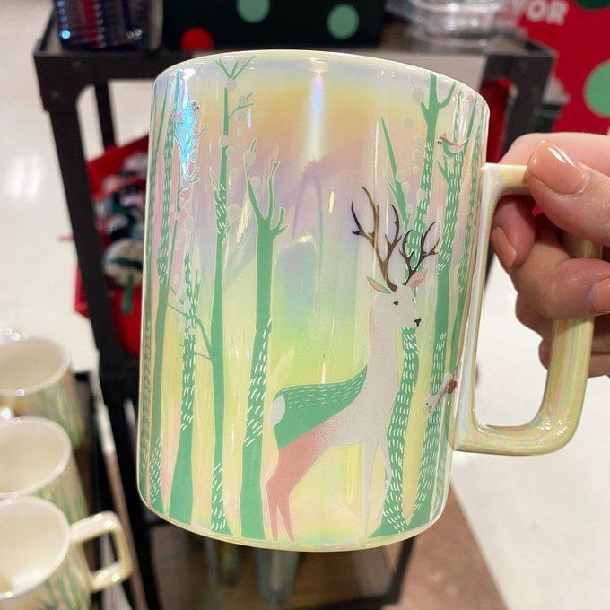 Starbucks iridescent holiday mug
