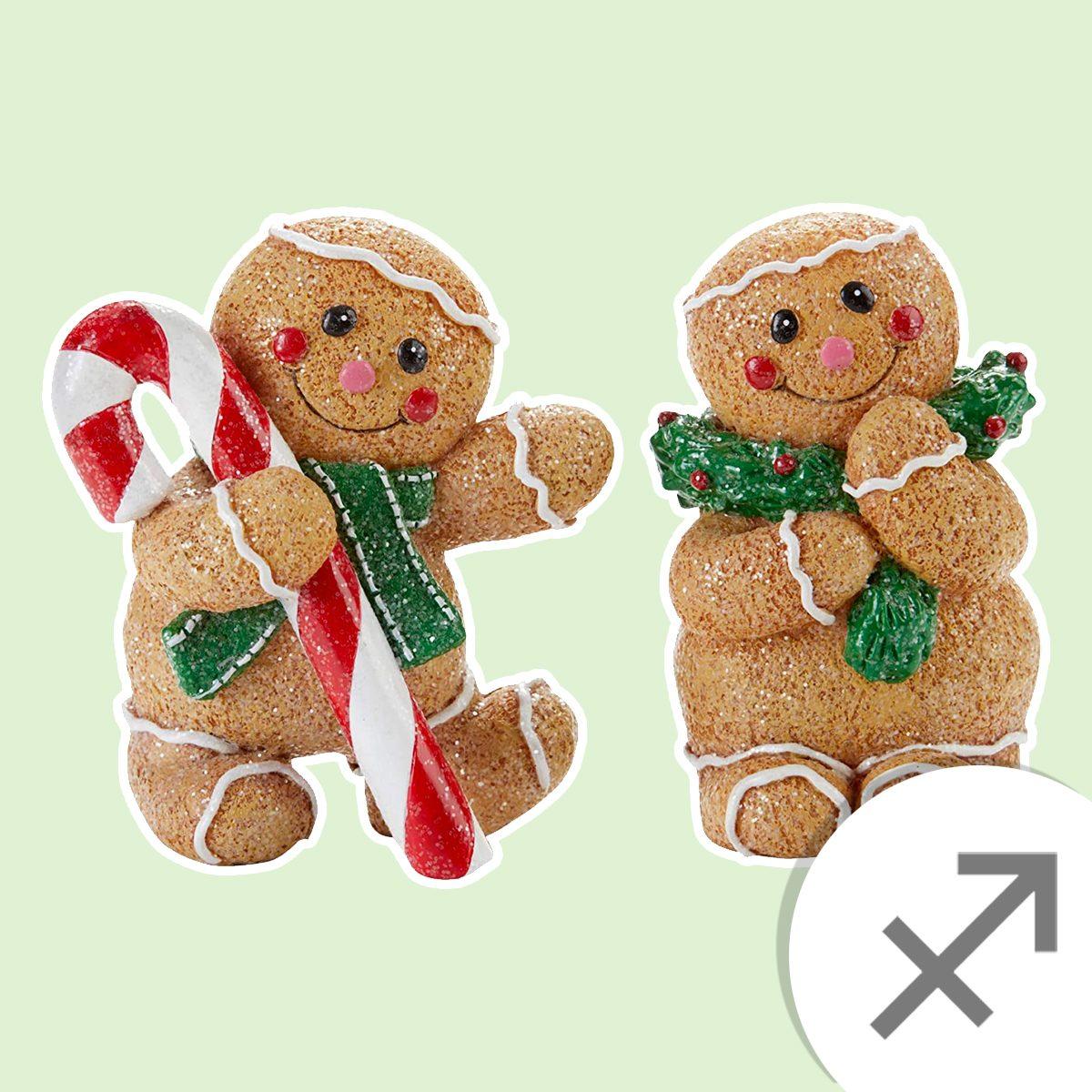 tabletop gingerbread figurines