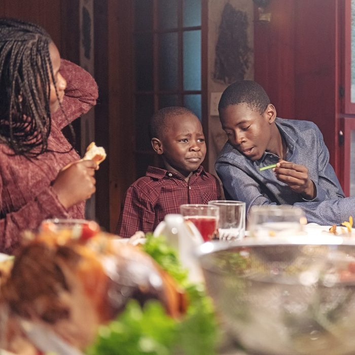 African-American during thanksgiving dinner